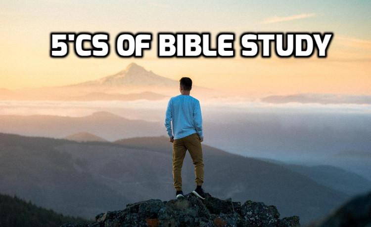 5C's of Bible Study   WednesdayintheWord.com