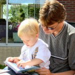 Reading to Son