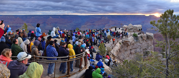 Grand Canyon Easter Sunrise Service 2011 Mather Point