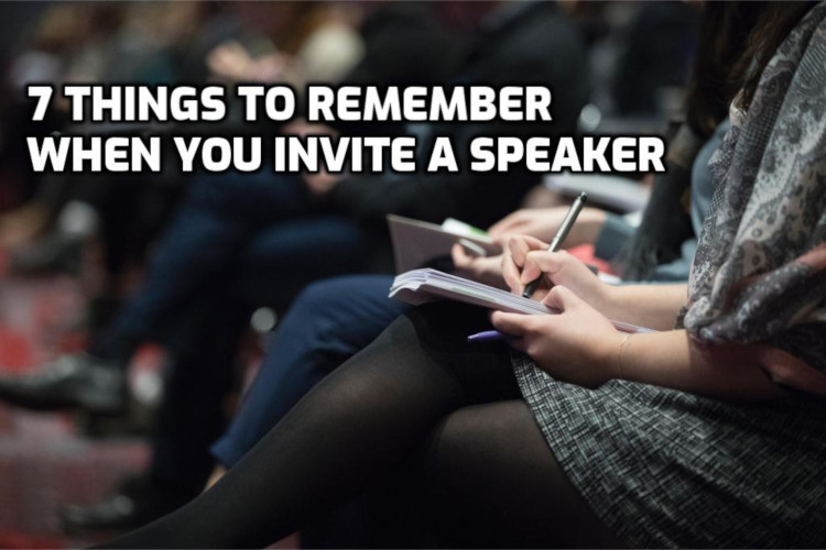 7 Things to remember when you invite a speaker | WednesdayintheWord.com