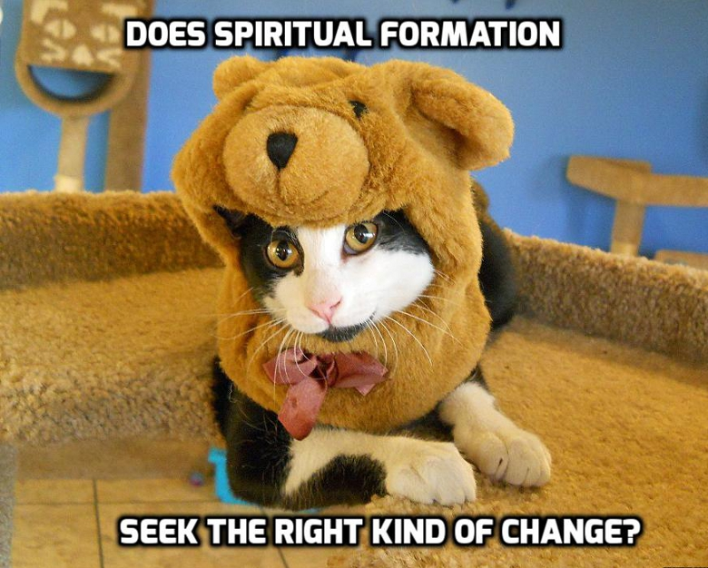 Does Spiritual Formation seek the right kind of change? |WednesdayintheWord.com