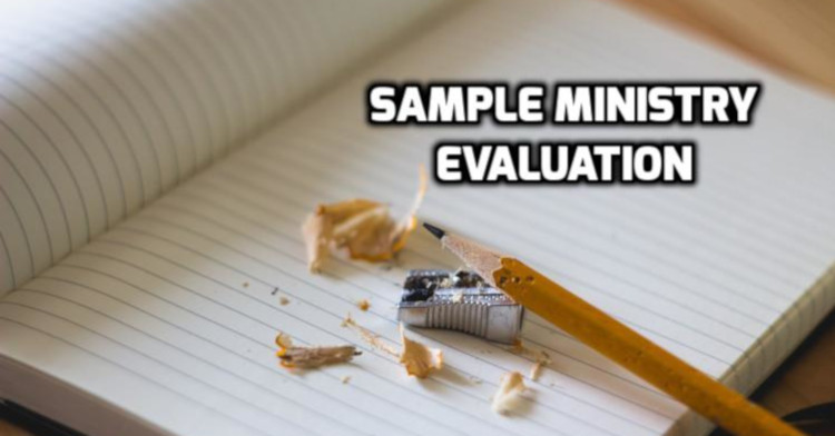 Ministry Evaluation Sample   WednesdayintheWord.com