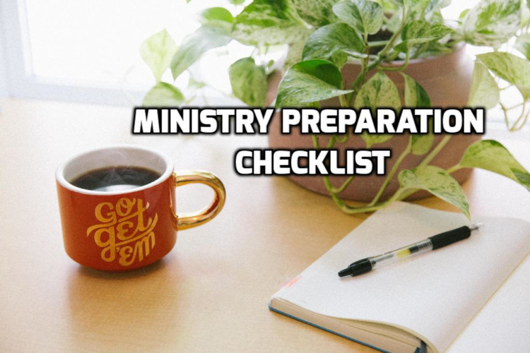 Ministry Preparation Checklist | WednesdayintheWord.com