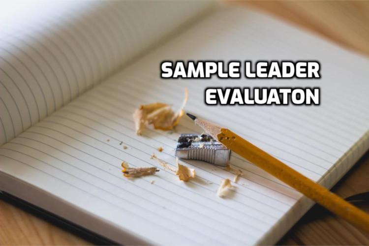 Sample Leader Evaluation | WednesdayintheWord.com