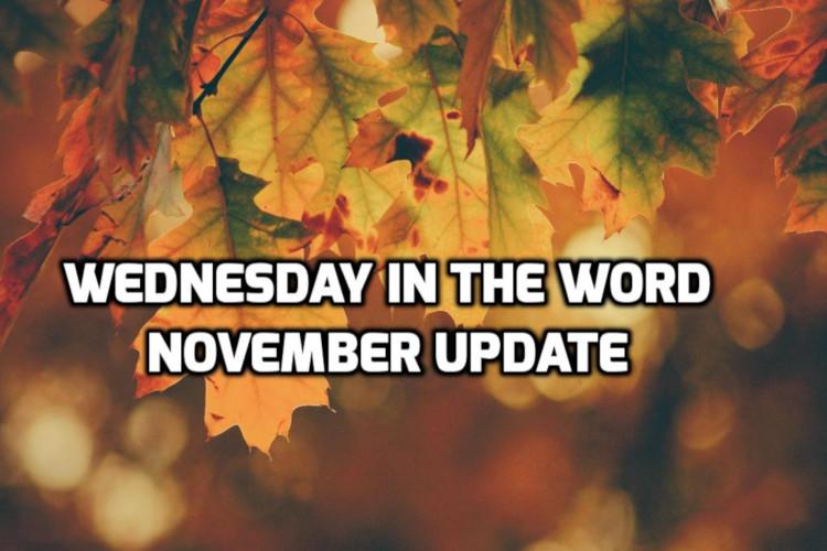 November 2019 Recap | WednesdayintheWord.com