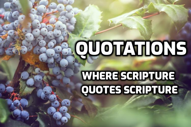 Quotations: Where Scripture quotes Scripture | WednesdayintheWord.com