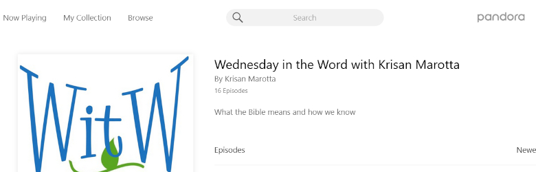 WitW on Pandora | WednesdayintheWord.com