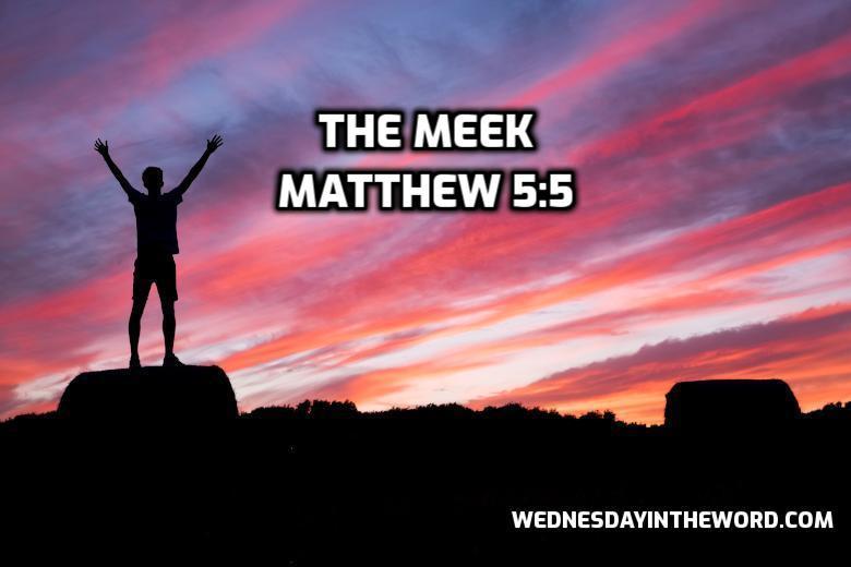 18 Matthew 5:5 The meek - Bible Study | WednesdayintheWord.com