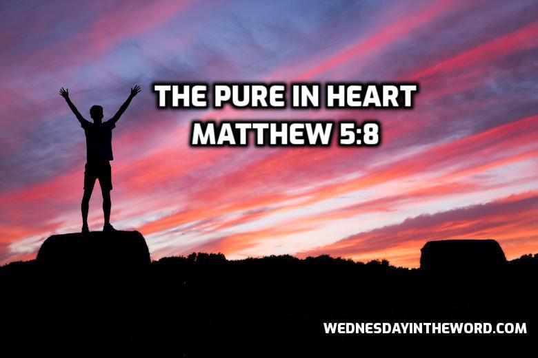 21 Matthew 5:8 The pure in heart - Bible Study   WednesdayintheWord.com