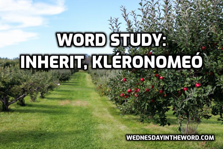 Word Study: inherit kleronomeo - Bible Study Tools | WednesdayintheWord.com