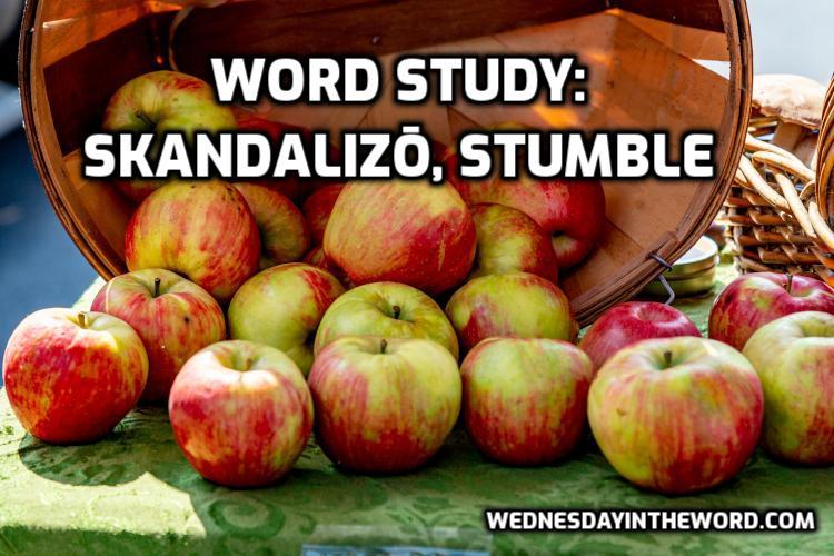 Word Study: stumble, skandalizō - Bible Study Tools   WednesdayintheWord.com